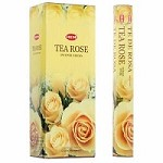 HEM TEA ROSE INCENSE 20 STICKS HEX PACK